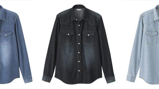 GUの人気商品デニムウエスタンシャツはマストバイだ。